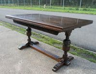 Dark Oak Extending Dining Table to Seat Eight by Jaycee - SOLD